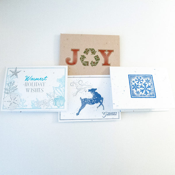 Plantable Seeded Paper Holiday Greeting Cards