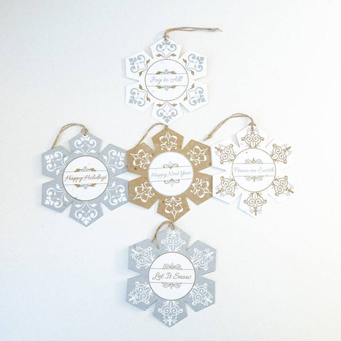 Plantable Seeded Paper Holiday Ornaments - Set of 5