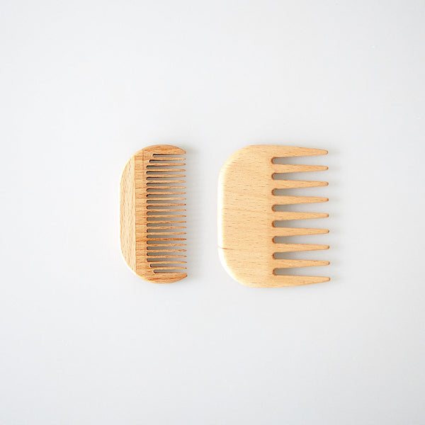 Wooden Pocket Comb for Travel - 2 Styles
