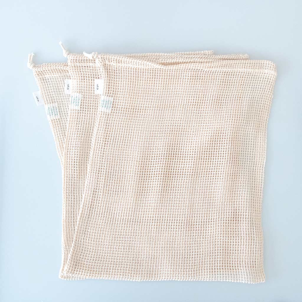 Reusable Mesh Produce Bags - Set of 3