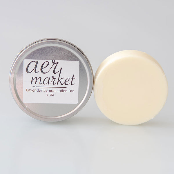 Solid Lotion Bar in Travel Tin - Vegan, Palm-oil free