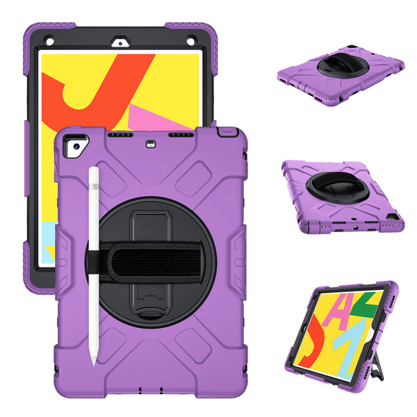 iPad 7th Gen 10.2 inch (2019 Model) Case Tough On Rugged Protection Purple