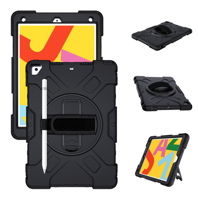 iPad 7th Gen 10.2 inch (2019 Model) Case Tough On Rugged Protection Black