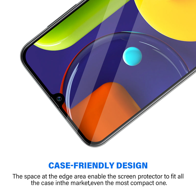 Samsung Galaxy A50 Tempered Glass Screen Protector Tough on with Black Frame