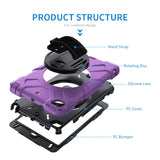 iPad mini 4 5 Case Tough On Rugged Protection Purple