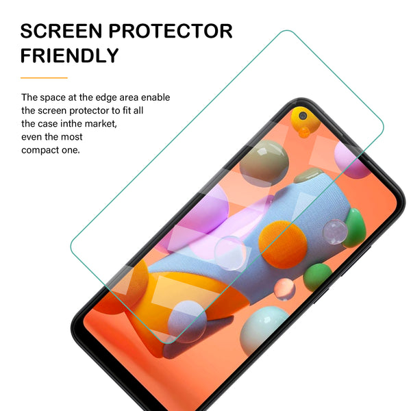 Samsung Galaxy A11 Tempered Glass Screen Protector Tough on Clear