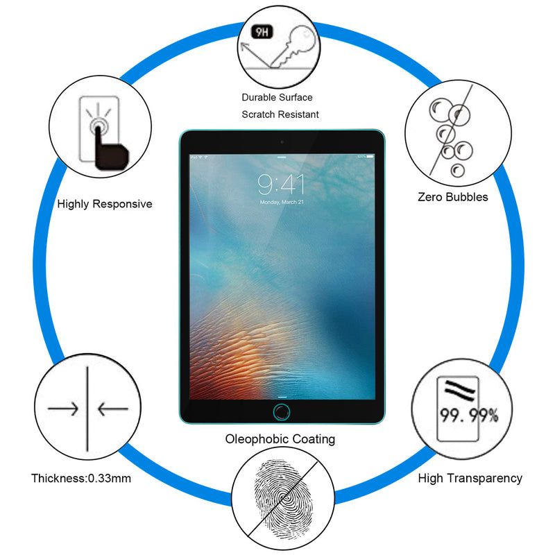 iPad Pro 9.7 inch Tempered Glass Screen Protector Tough on