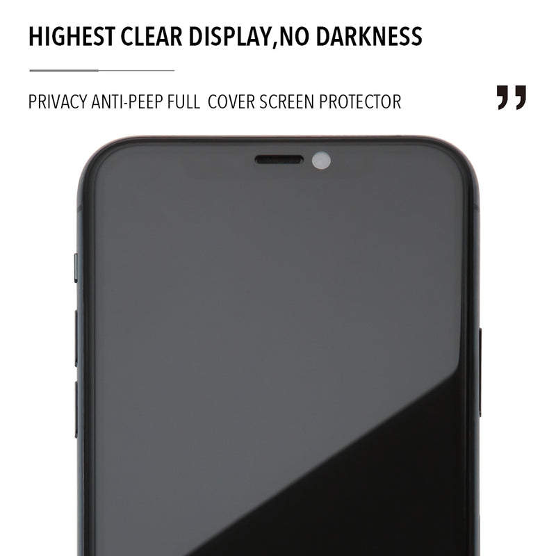 iPhone XR Privacy Tempered Glass Type Gorilla