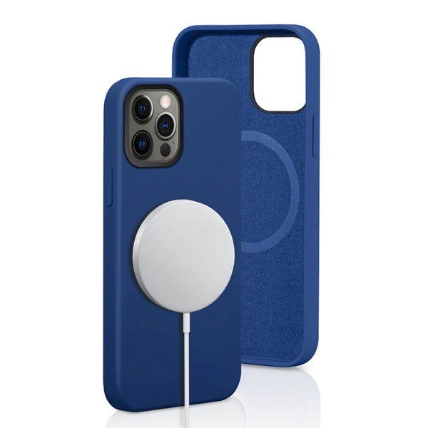 iPhone 12 Pro Max Case Tough On Magsafe Silicone Navy