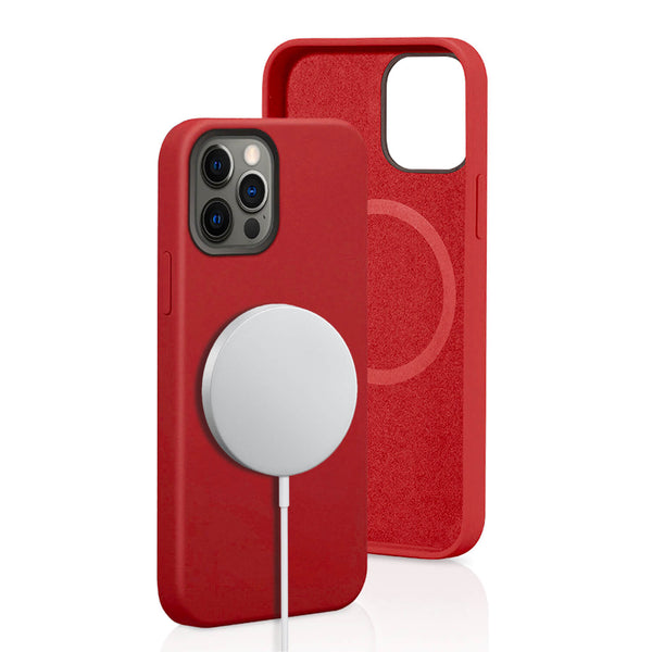 iPhone 12 Pro Max Case Tough On Magsafe Silicone Red