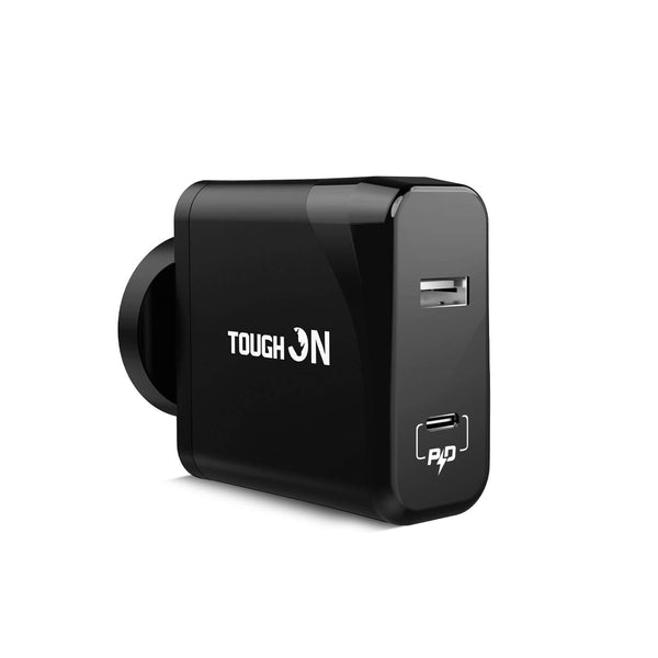 Tough on Wall Charger 42W Dual Port USB C PD 3.0 & USB A