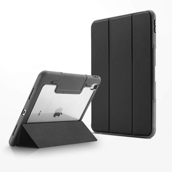Tough On iPad 7th Gen 10.2 inch Case Smart Cover Black with Clear Back