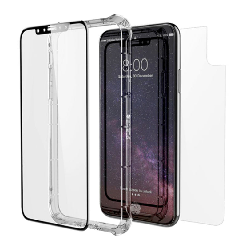 ZAGG Invisible Shield iPhone X 360 Protection Case + Glass Curve Screen Protector