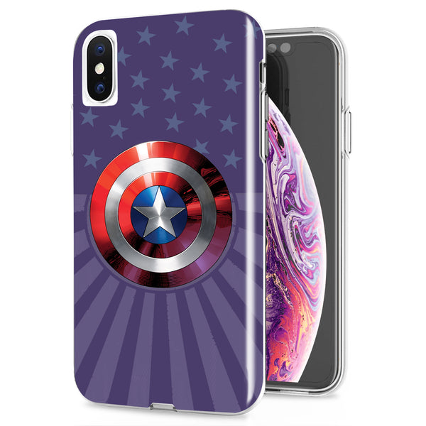 Captain America Shield iPhone Case - PTC Phone Accessories
