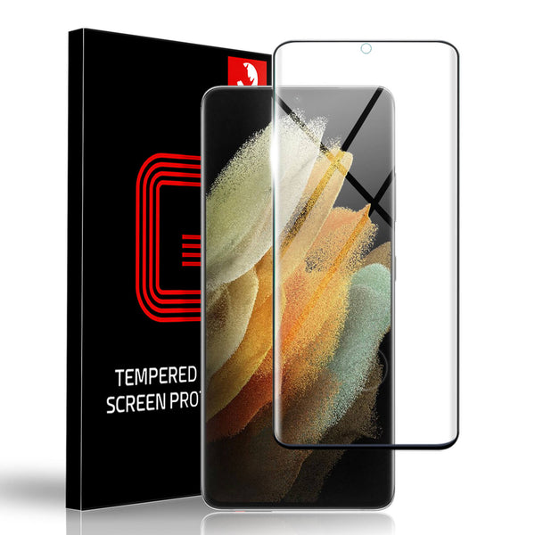 Tough On Samsung Galaxy S21 Ultra 5G Tempered Glass Screen Protector Black