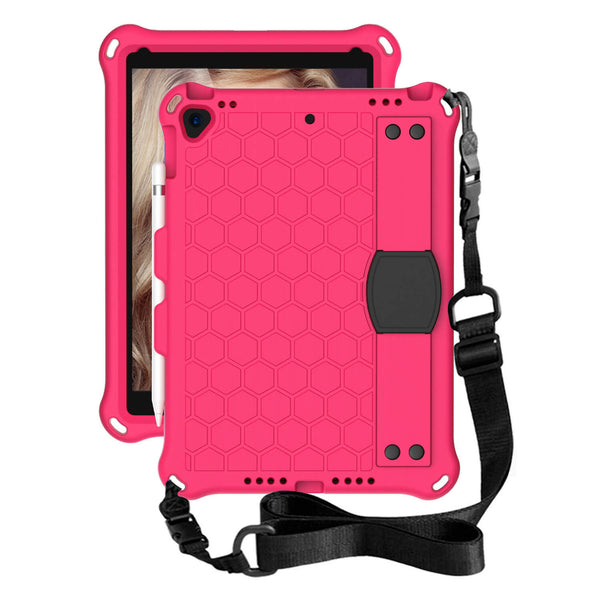 Tough On iPad 8 & 7th Gen 10.2 INCH Case Beehive Style EVA Hot Pink
