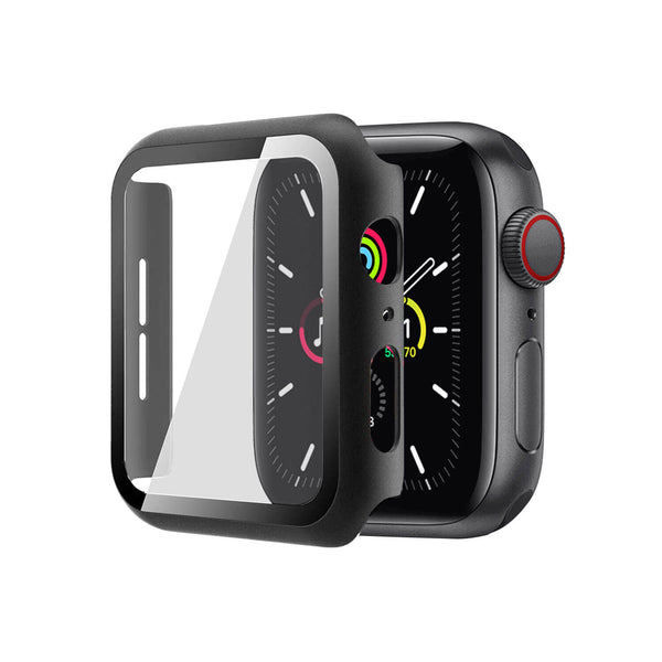 Apple Watch Case Tempered Glass Cover JX 38mm Black
