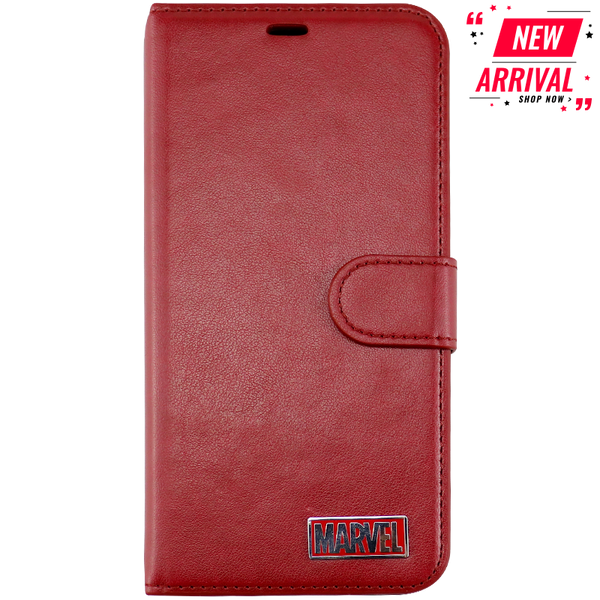 Marvel Logo Detachable Leather Case
