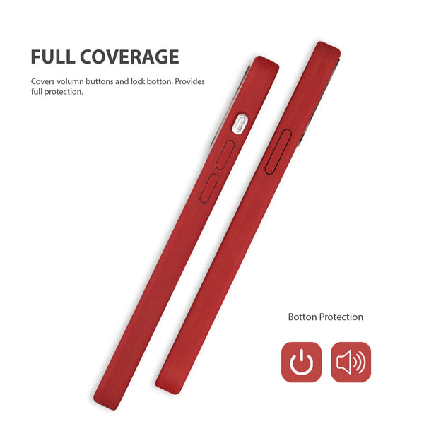 iPhone 12 / iPhone 12 Pro Case Tough On Magsafe Silicone Red