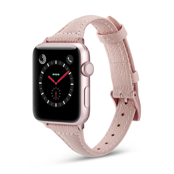 Tough On Apple Watch 42-44mm T Genuine Leather Pink
