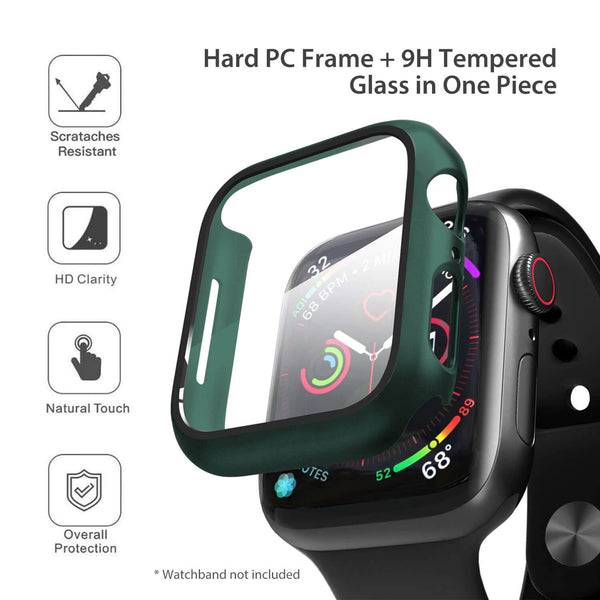 Apple Watch Case Tempered Glass Cover JX 38mm Green