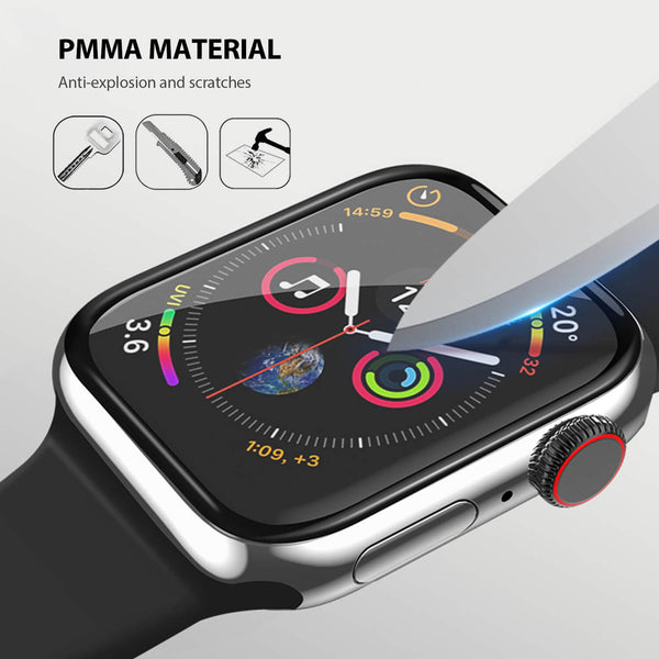 Tough On Apple Watch 44mm Screen Protector PMMA 2 Pack