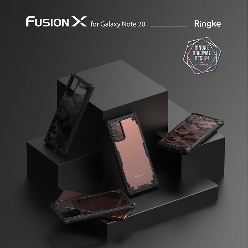 Samsung Galaxy Note 20 Case Ringke FUSION-X Camo Black
