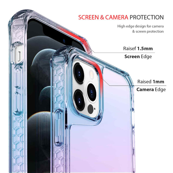 iPhone 12 Pro Max Case Tough On Tough Air Iridescent Clear