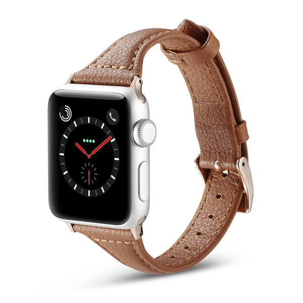 Tough On Apple Watch 38-40mm T Genuine Leather Band Brown