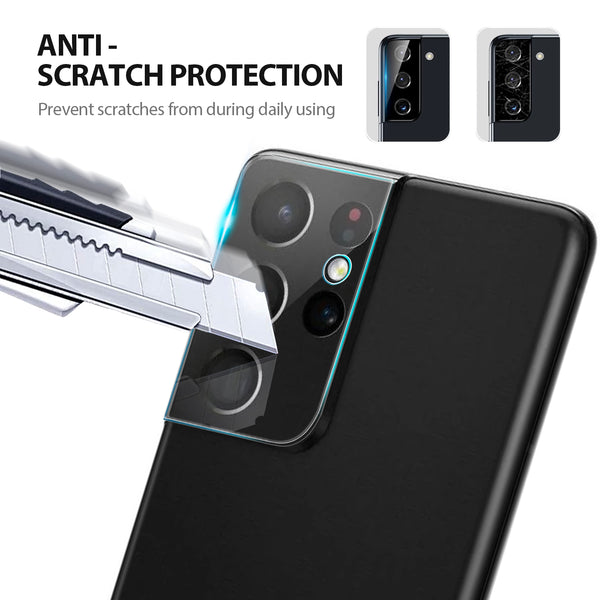 Tough On Samsung Galaxy S21 Ultra 5G Tempered Glass Camera Protector 2 Pack
