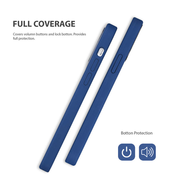 iPhone 12 / iPhone 12 Pro Case Tough On Magsafe Silicone Navy