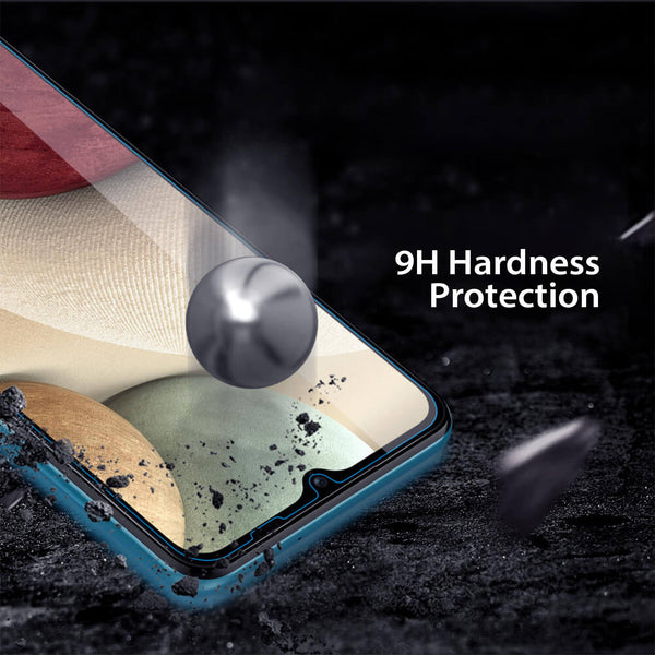 Tough on Samsung Galaxy A12 Tempered Glass Screen Protector Clear