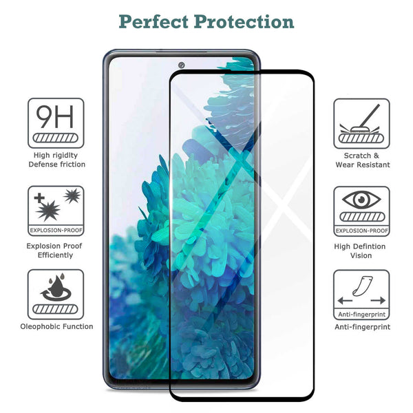 Tough On Samsung Galaxy S20 FE 5G Tempered Glass Screen Protector Black
