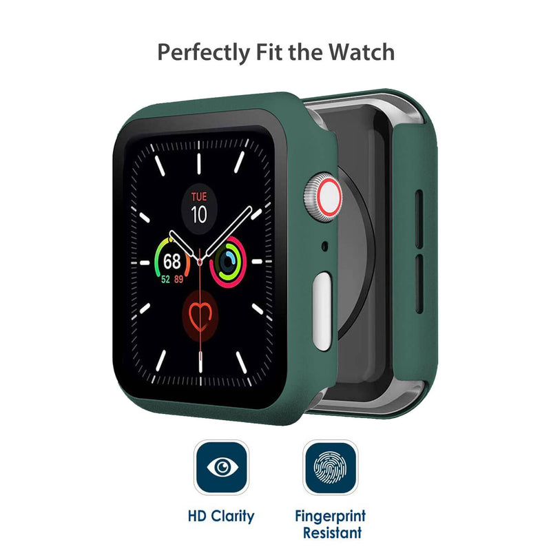Apple Watch Case Tempered Glass Cover JX 44mm Green