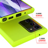Samsung Galaxy Note 20 Case Tough on Silicone Yellow