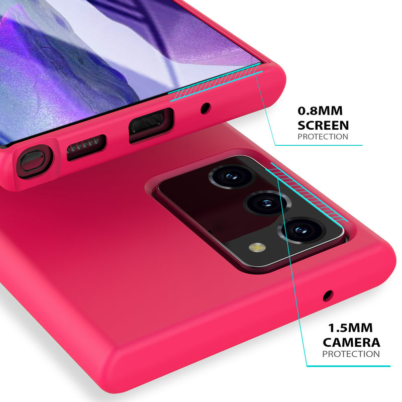 Samsung Galaxy Note 20 Case Tough on Silicone Hot Pink