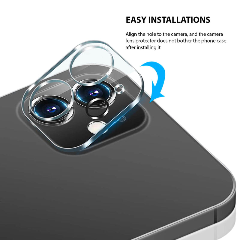 Tough On iPhone 12 mini Rear Camera Protector Tempered Glass