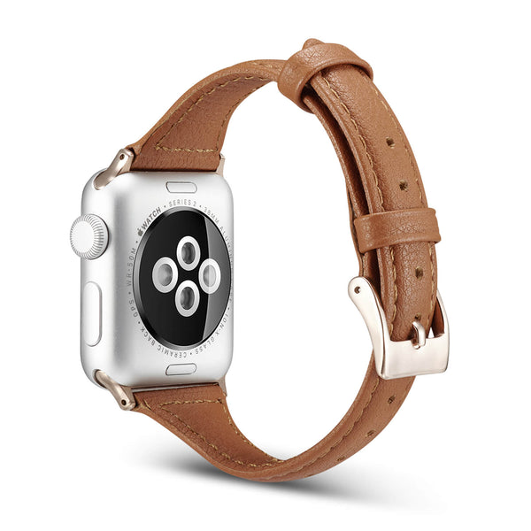 Tough On Apple Watch Band 42-44mm T Genuine Leather Band Brown