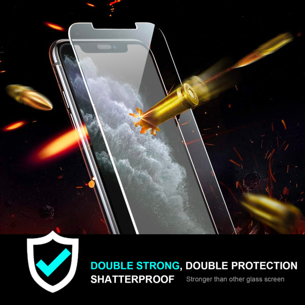 iPhone XS & X Pro Tempered Glass Screen Protector Tough on Double Strong
