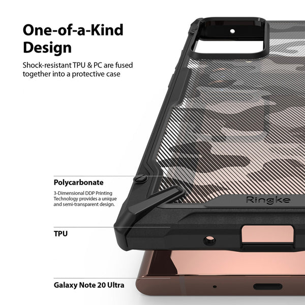 Samsung Galaxy Note 20 Ultra Case Ringke FUSION-X Camo Black