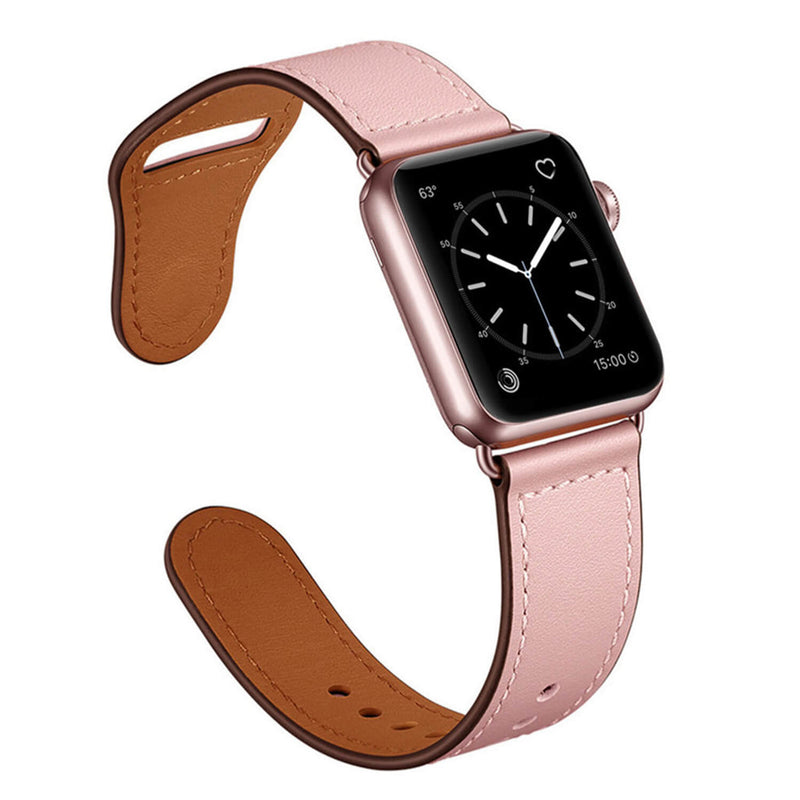 Tough On Apple Watch Band 38-40mm Pin Buckle Leather Strap Pink