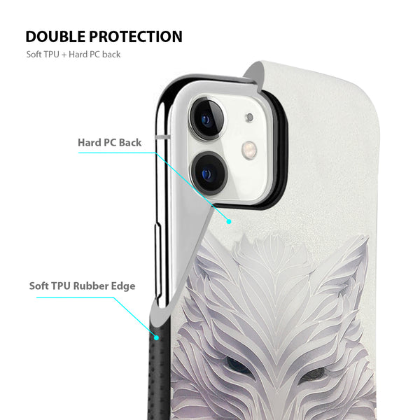 iPhone 11 Tough on Heavy Duty White Wolf