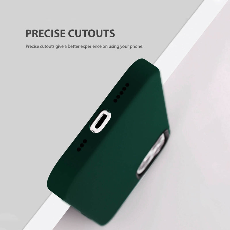 iPhone 12 Pro Max Case Tough On Magsafe Silicone Midnight Green