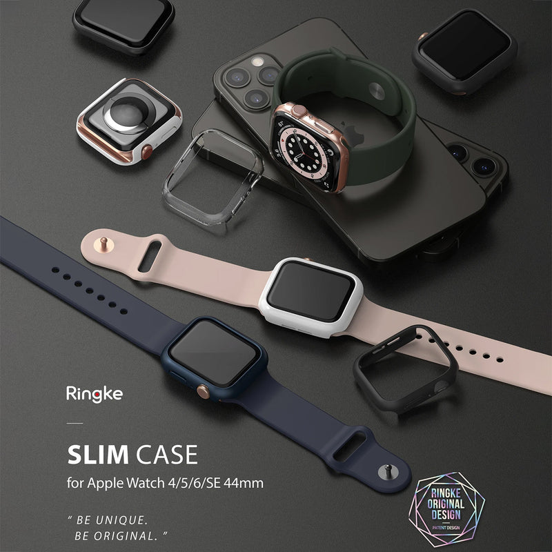 Ringke Apple Watch Series 6 / SE / 5 / 4 (44mm) Case Slim Clear & Black