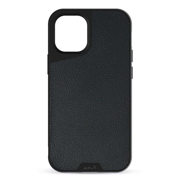 iPhone 12 / iPhone 12 Pro Case Mous Aramax Limitless 3.0 Black Leather