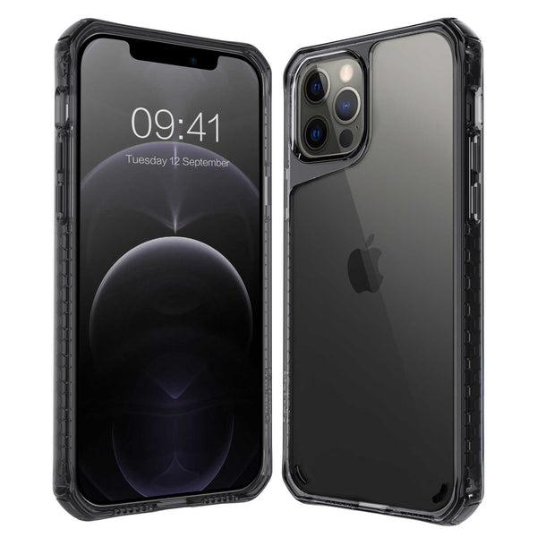 iPhone 12 / iPhone 12 Pro Case Tough On Tough Air Smoke Black