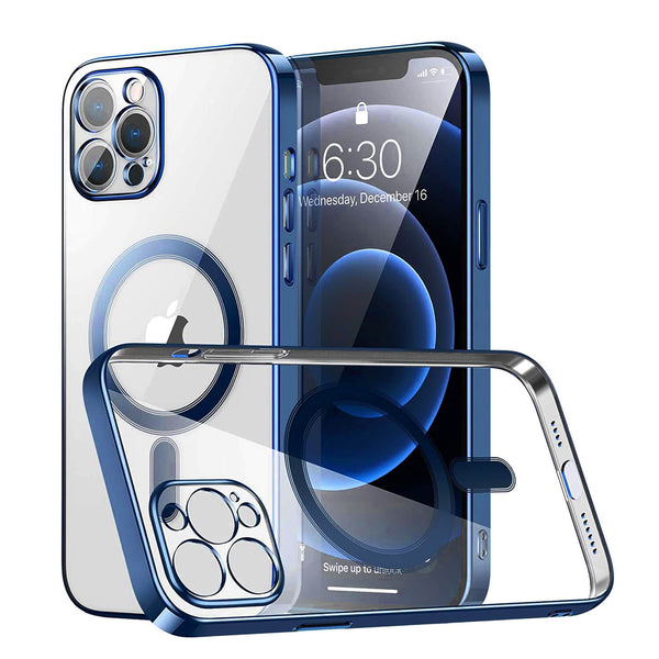Tough On iPhone 12 Pro Max MagSafe Slim TPU Case Blue