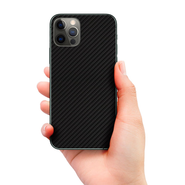 Techwrap Phone Decal for iPhone Black Carbon