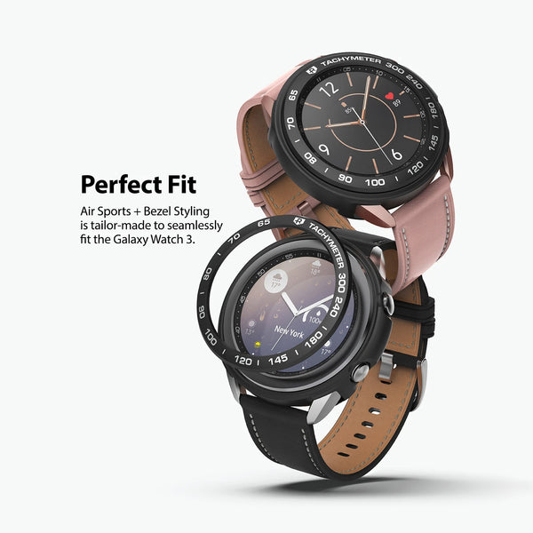 Ringke Galaxy Watch 3 45mm Air Sports Black Case+ Bezel Styling 10 Combo Pack