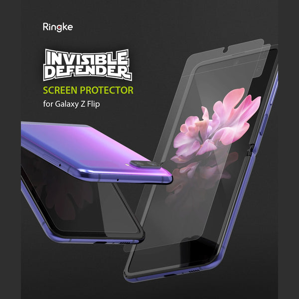 Ringke Samsung Galaxy Z Flip Screen Protector Invisible Defender 2 Pack